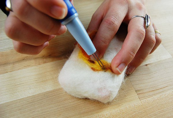 Check out How To Make Felted Soap at https://homesteading.com/how-to-make-felted-soap/