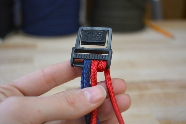 Once you measure, loop the ends around the buckle slot one more time to make it secure.