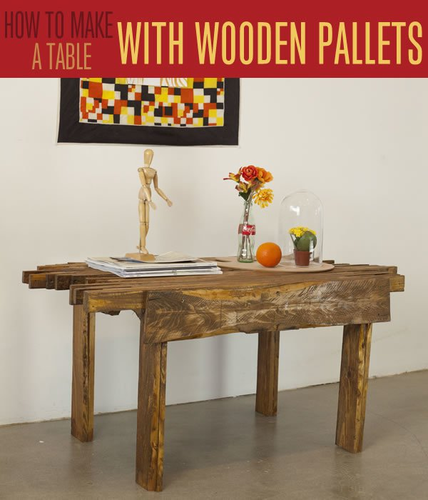 Repurposed Pallet Furniture Ideas | Make A Wood Pallet Coffee Table
