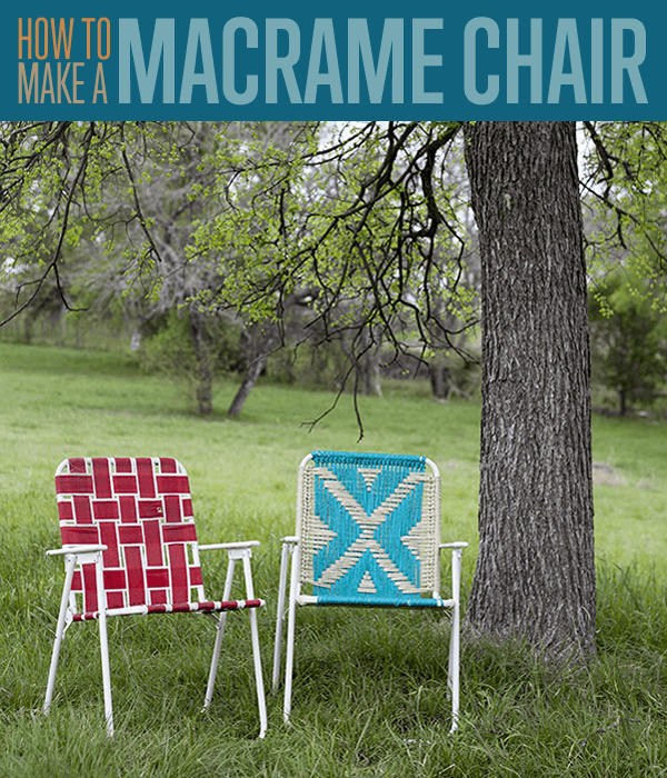 How to Make a Macrame Chair - DIY Upcycle