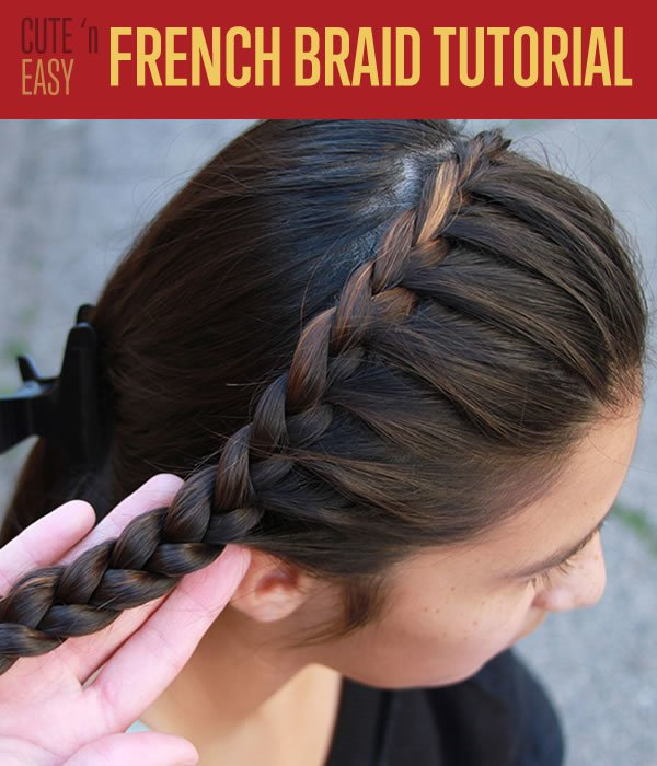 How To French Braid Hair | DIY Hair Tutorial
