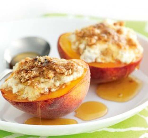 DIY-Finger-Foods-Baked-Peaches-Ricotta