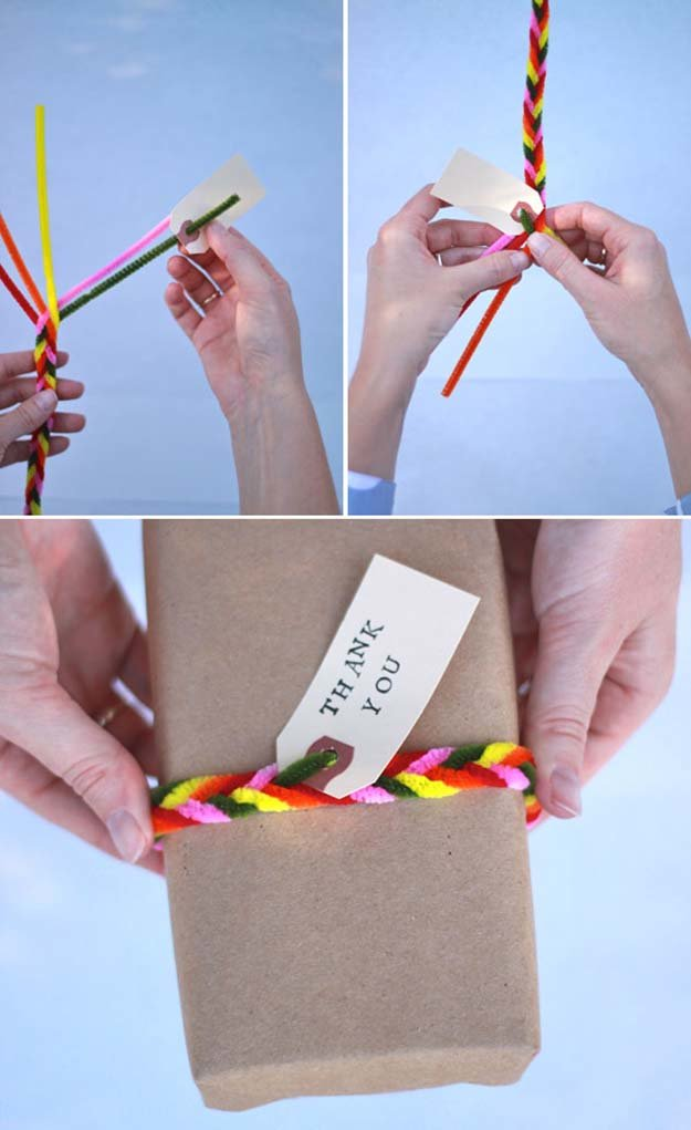 Pipe Cleaner Gift Wrap  | Cool Craft Ideas