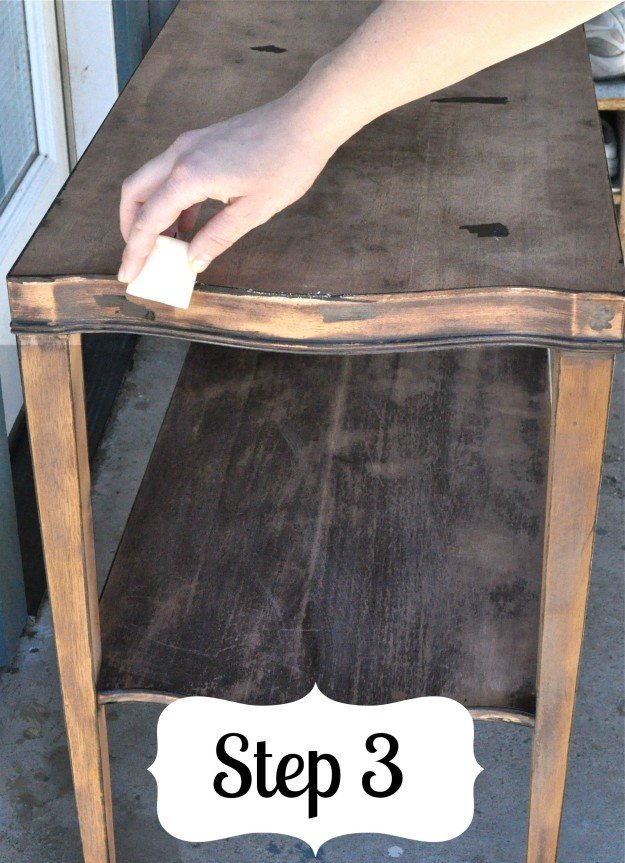 How To Distress A Table Furniture Painting Technique Diy