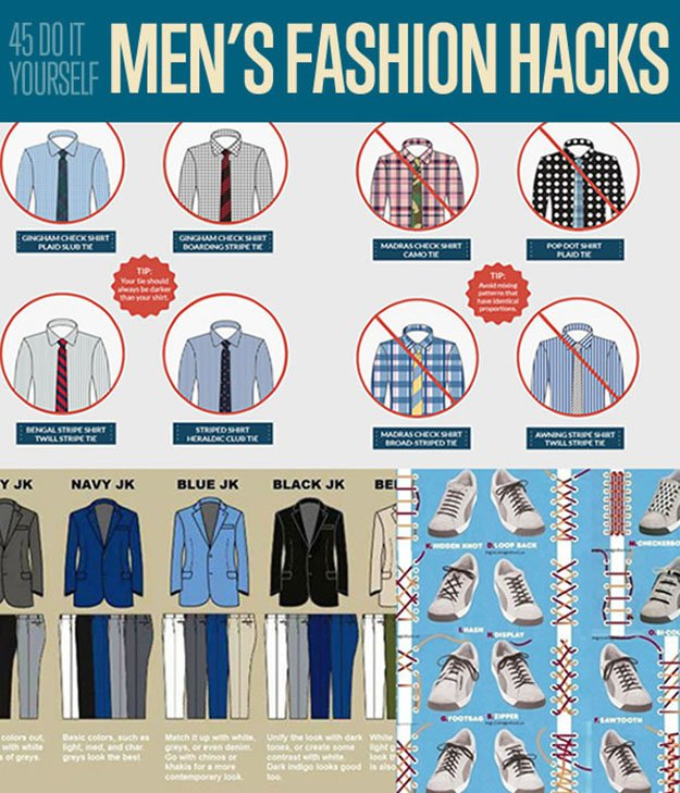 Men's Fashion Hacks DIY Projects Craft Ideas & How To's for Home Decor with Videos
