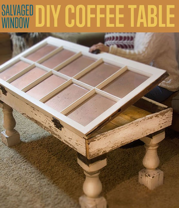 Salvaged Window Diy Coffee Table Unique Coffee Tables Diy Ready