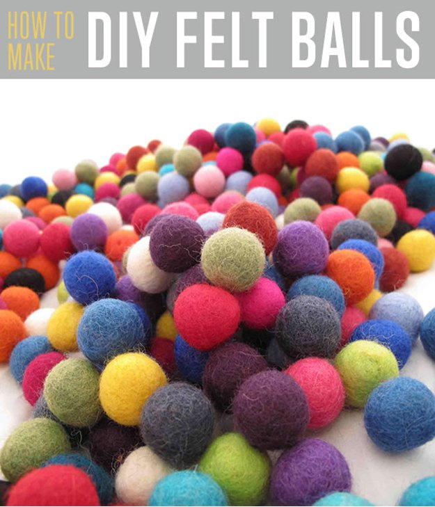 How To Make Felt Balls Diy Ready