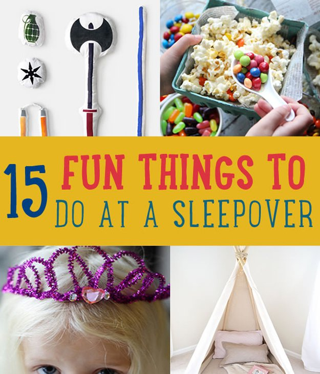 15 fun diy crafts for kids sleepover activities diyready for Fun projects for kids to do at home
