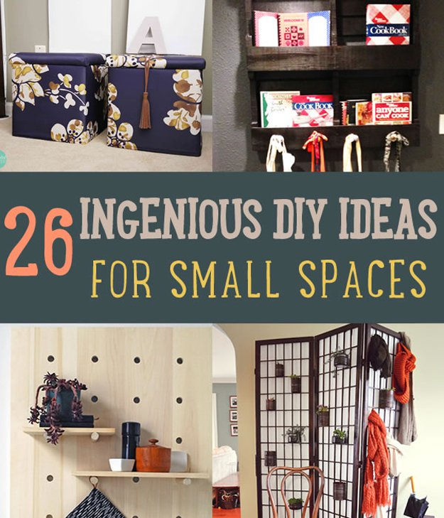 26 ingenious diy ideas for small spaces diy ready - Small spaces organization ideas decor ...