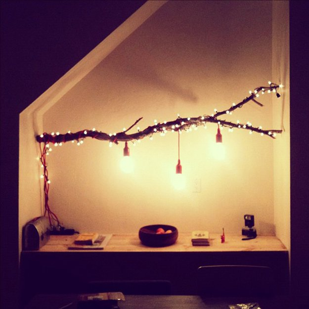 String Lights On Tree Branches : DIY Room Decor With String Lights DIY Ready