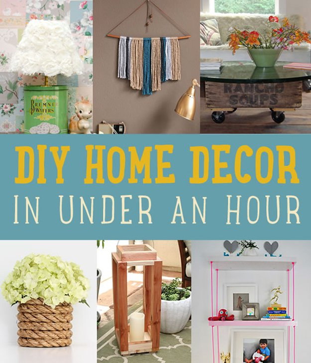 Diy Home Decor Projects: DIY Home Decor Crafts