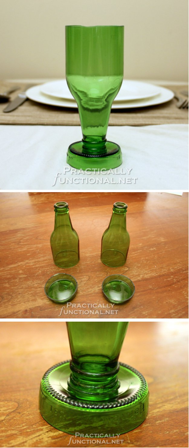 24 creative uses for beer bottles diy ready for How to cut a beer bottle at home