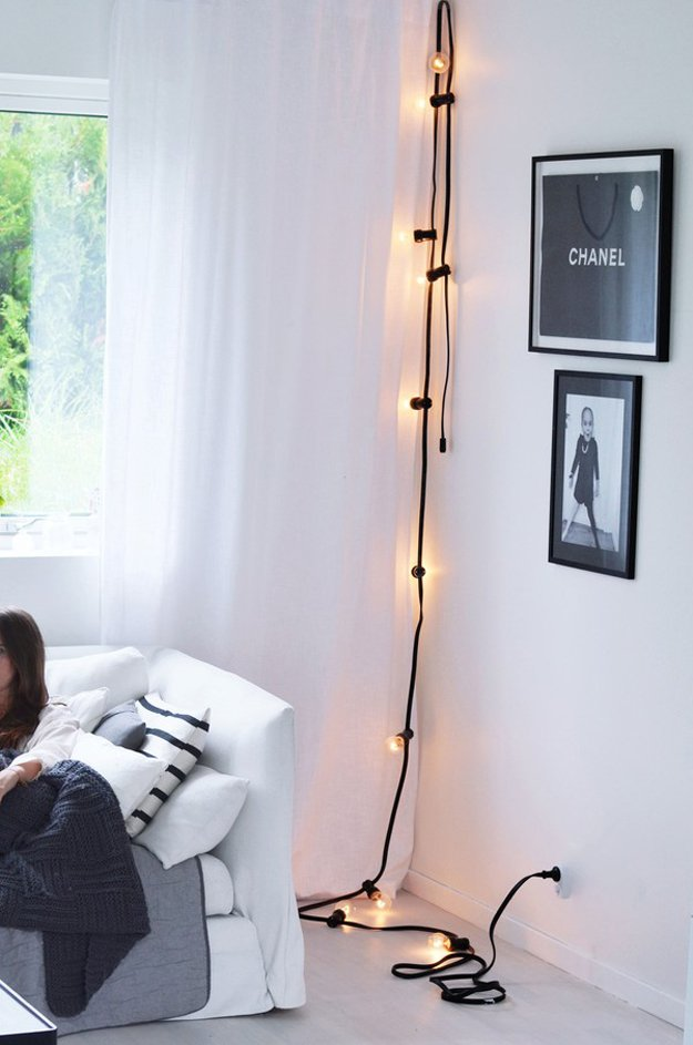 Diy room decor with string lights diy ready for Lights for your room
