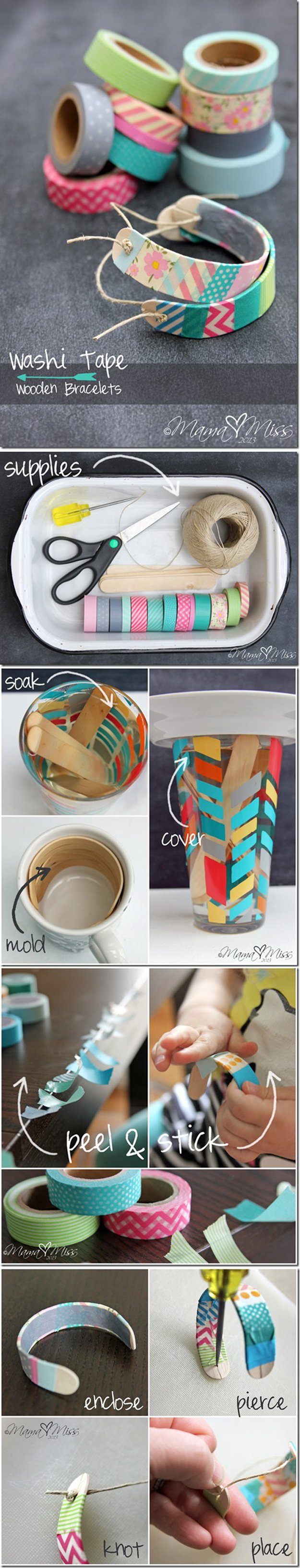 DIY Washi Tape Jewelry | http://diyready.com/100-creative-ways-to-use-washi-tape/