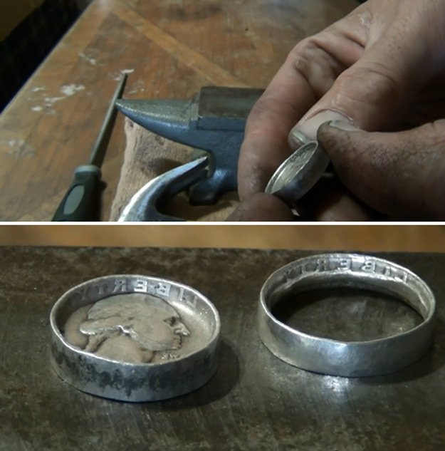 How To Make Coin Rings Diy Ready