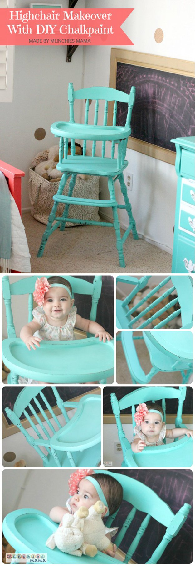 high chair makeover
