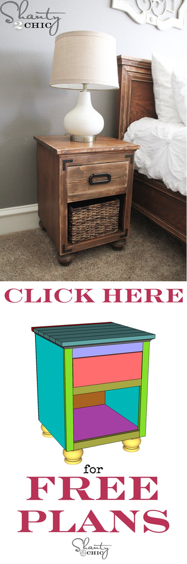 17 Creative And Cheap Nightstands Diy Wood Projects