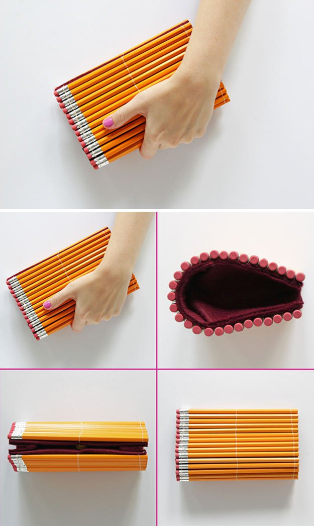 Diy pencil clutch 14 diy back to school supplies for all ages