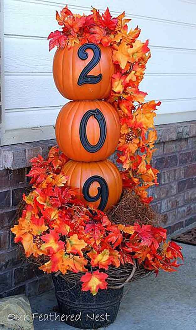 Diy fall door decorations ready