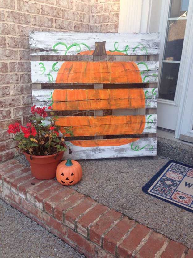 21 diy fall door decorations diy ready - Making a pumpkin keg a seasonal diy project ...