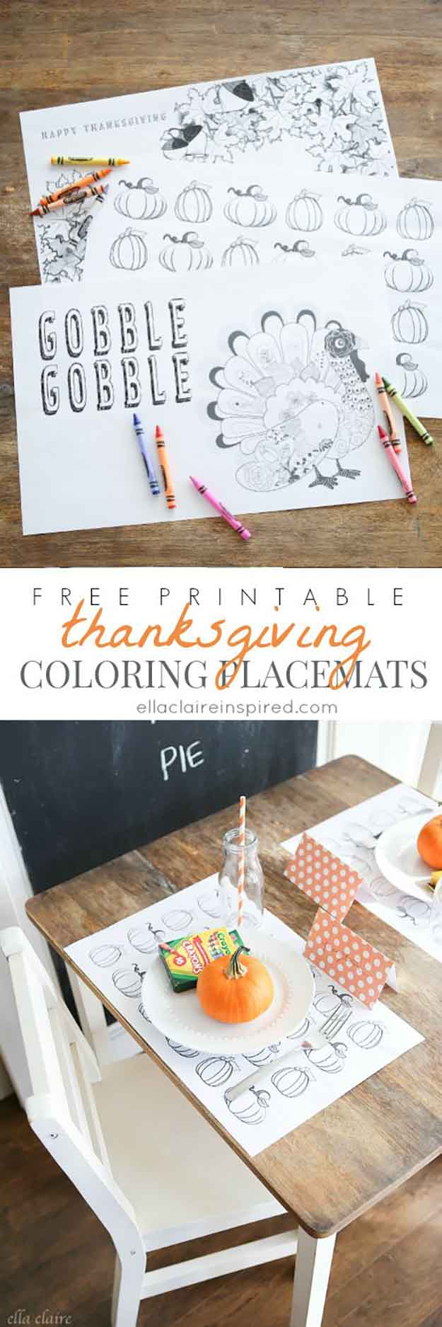 Diy holiday decor 14 thanksgiving placemat ideas for Home made thanksgiving decorations