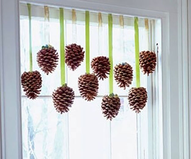 Pine cone crafts window accents 17 diy thanksgiving crafts for