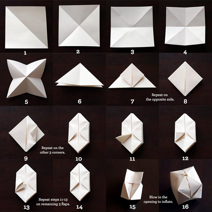 Paper Lantern String Lights Bedroom : Bedroom String Lights With Origami Paper Lanterns