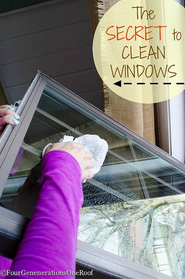 16 diy tips and tricks to get a jump on spring cleaning - Best way to clean windows ...