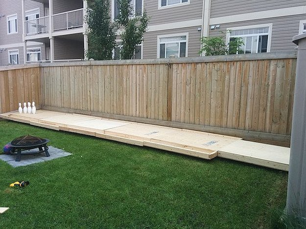 build your own backyard bowling alley diy ready