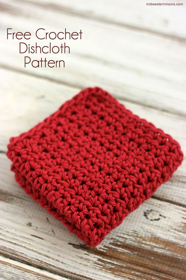 Crochet Dishcloth | 24 Easy Crochet Patterns For Beginners To Get Started With